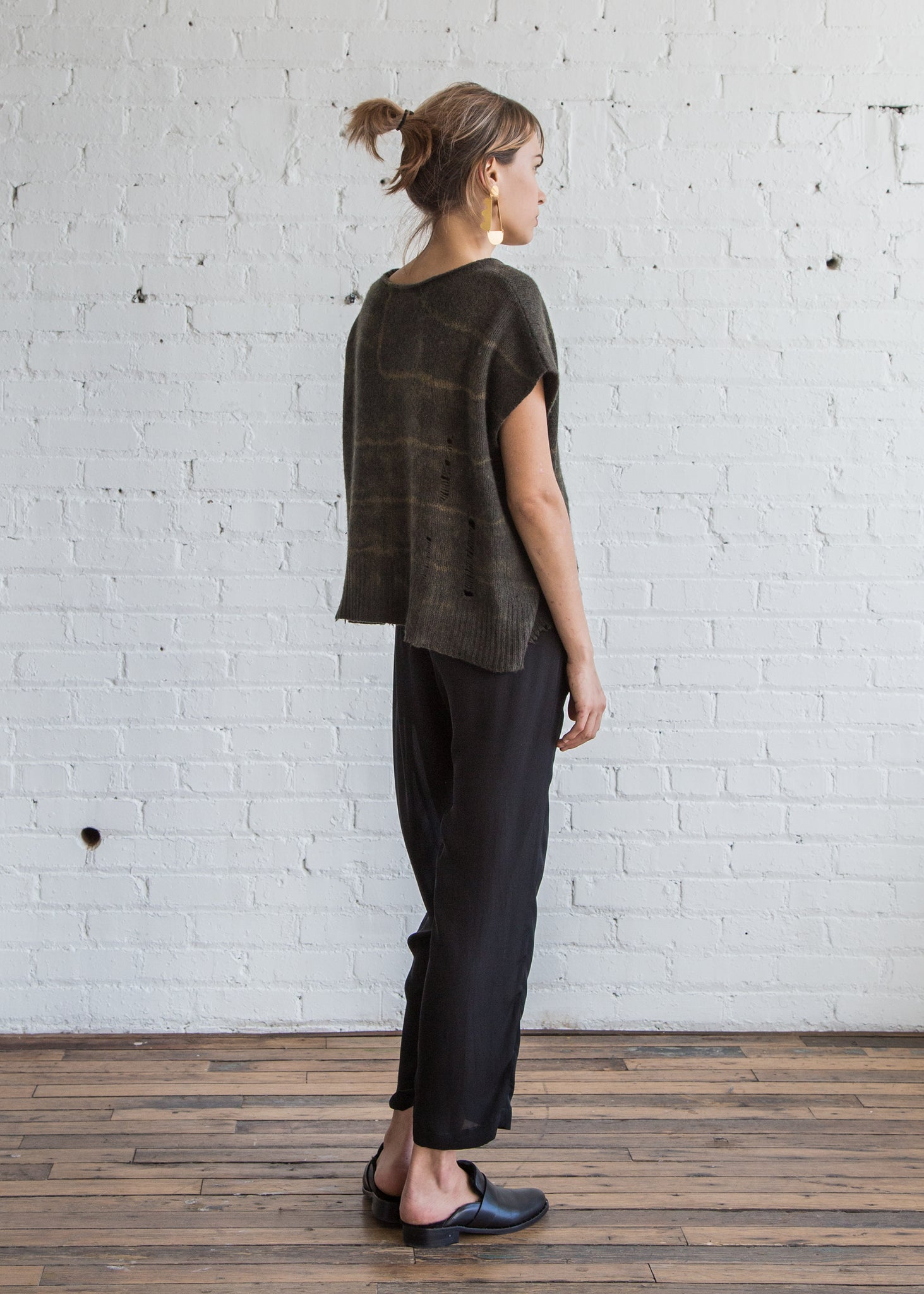 Raquel Allegra Boxy Top Cashmere/Moss TD - SOLD OUT