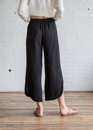 Raquel Allegra Cut Out Pant Black