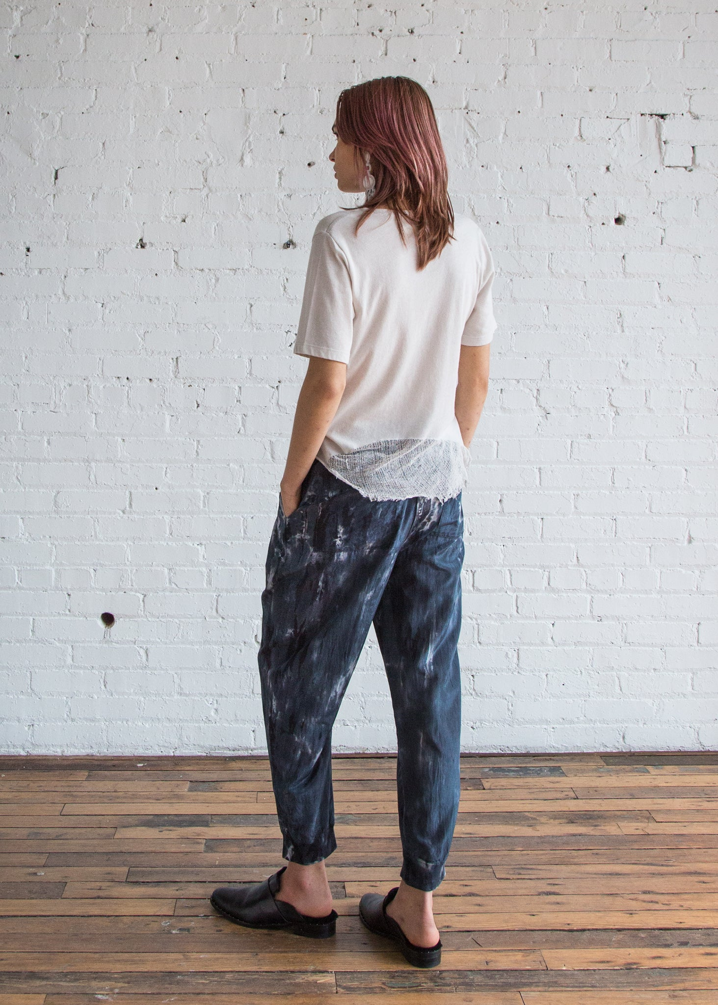 Drawstring Pant in Midnight