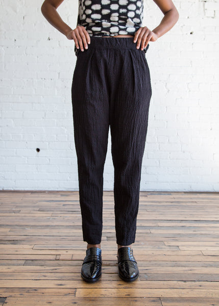 Raquel Allegra Easy Pant Black