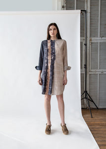 Henley Tunic Dress in Caves - SOLD OUT