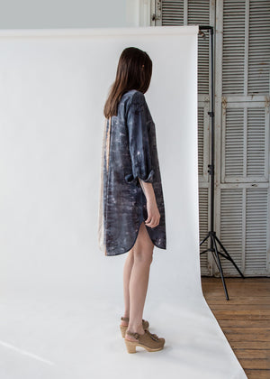 Henley Tunic Dress in Caves