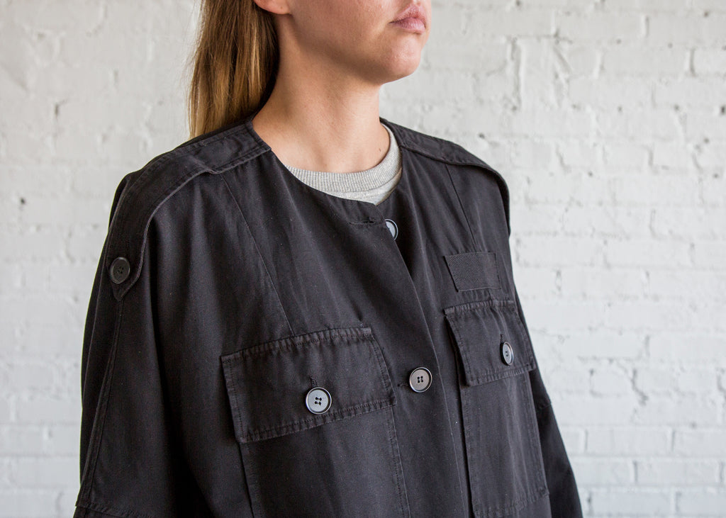 Raquel Allegra Military Jacket Black