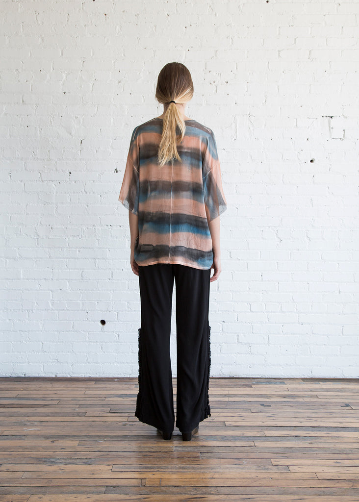Raquel Allegra Relaxed Tee Black Rose - SOLD OUT