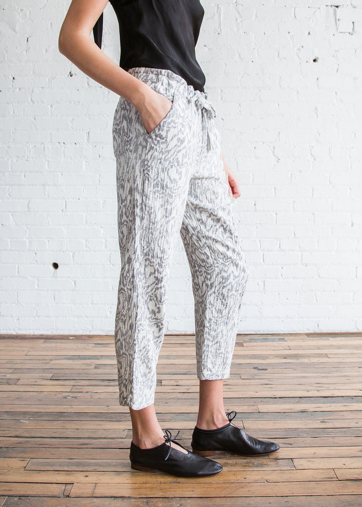 Raquel Allegra Drawstring Pant Dirty White