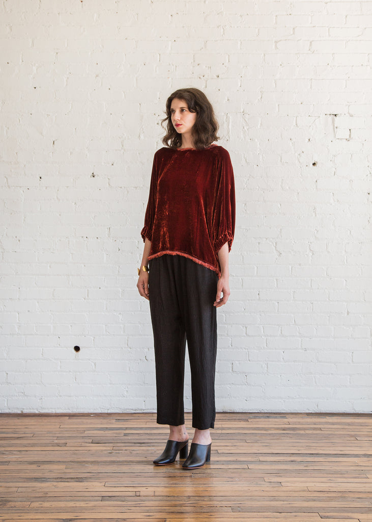 Raquel Allegra Dolman Top in Cognac