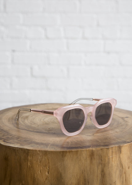 Rejina Pyo Sunglasses Pink Frame/Brown Lens