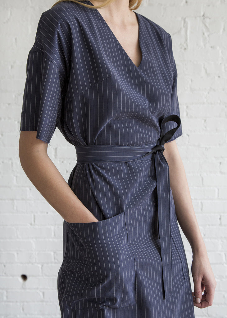 Schai Kandan Dress Ink Pinstripe - SOLD OUT