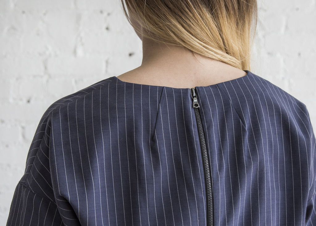 Schai Kandan Dress Ink Pinstripe