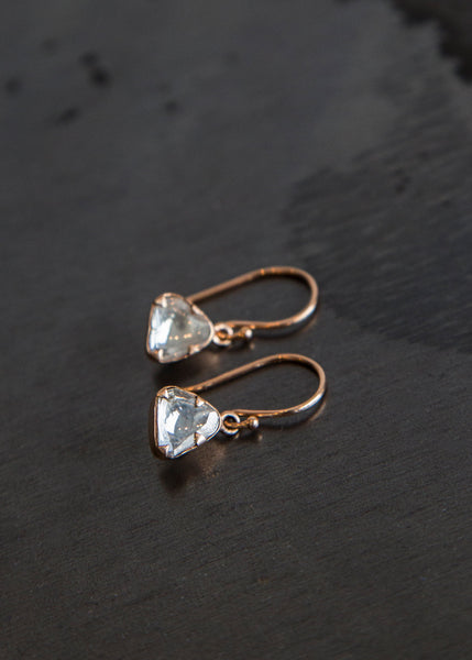 Sierra Winter Primrose Diamond Earrings Rose Gold