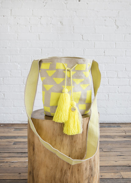 Guanabana Big Wayuu Bag Yellow