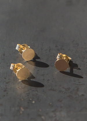 Kathleen Whitaker Sequin Stud 5mm 14K Gold