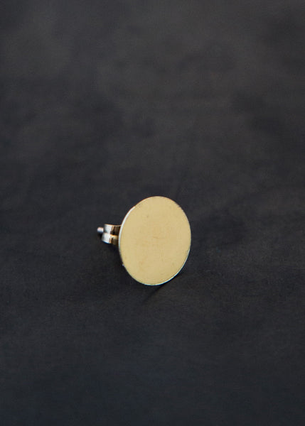 Kathleen Whitaker Sequin Stud 9mm 14K Gold