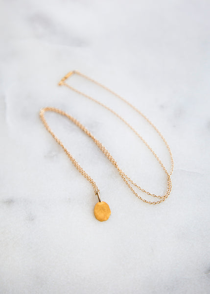 Kathleen Whitaker Foil Necklace 14K Gold - SOLD OUT