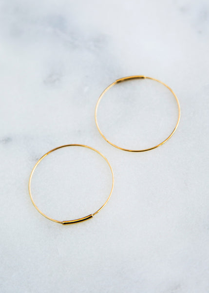 Kathleen Whitaker Hoop Earring 14K Gold - SOLD OUT
