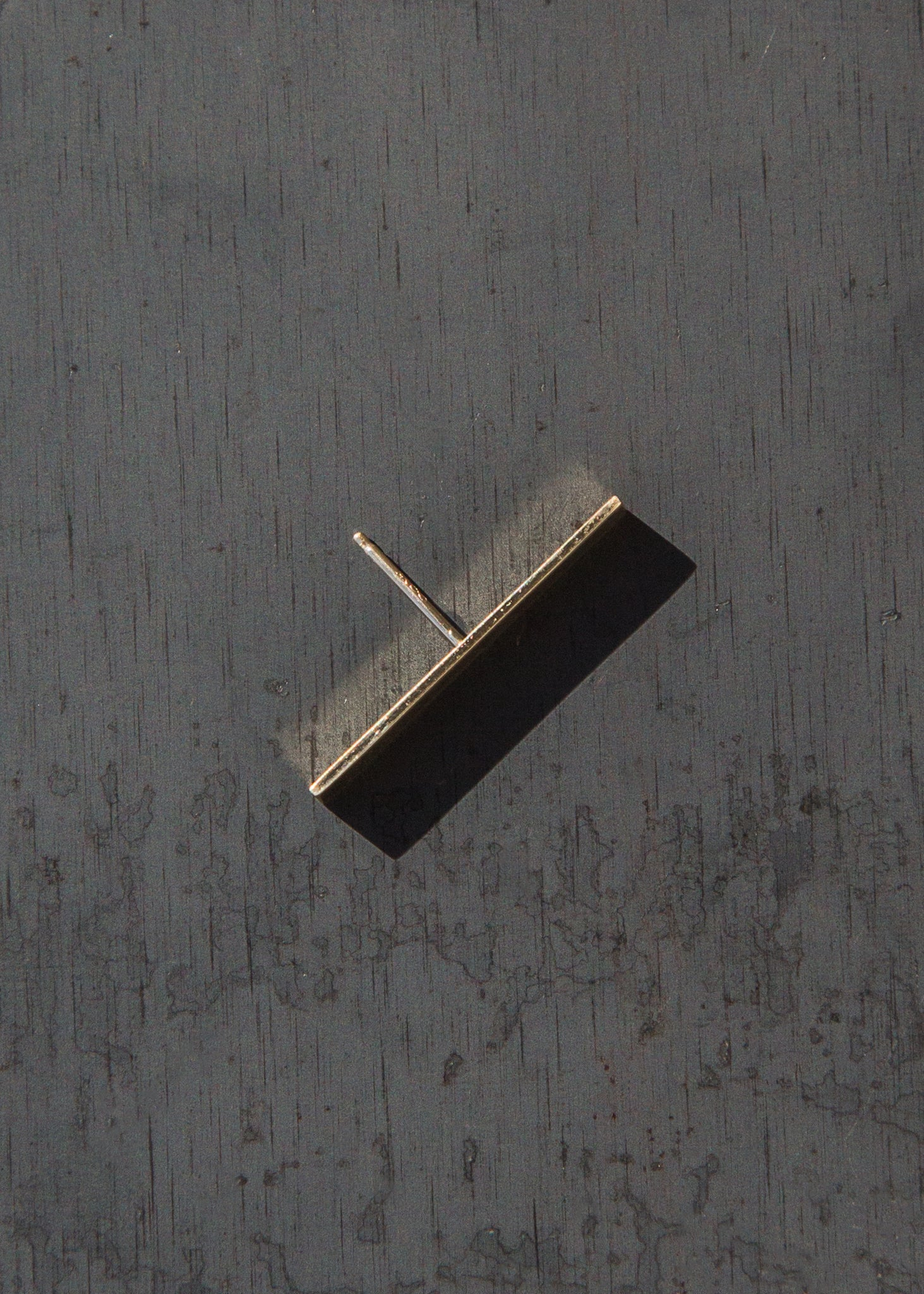 Kathleen Whitaker Long Plate Stud 14K Gold