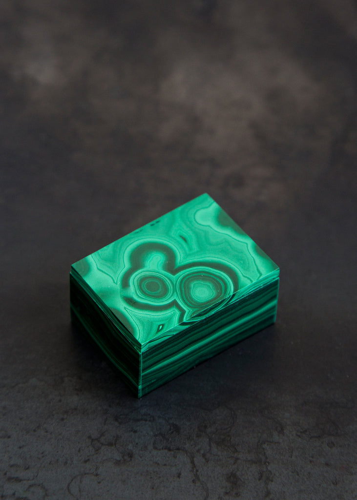 Kathleen Whitaker Small Malachite Gembox Malachite - SOLD OUT