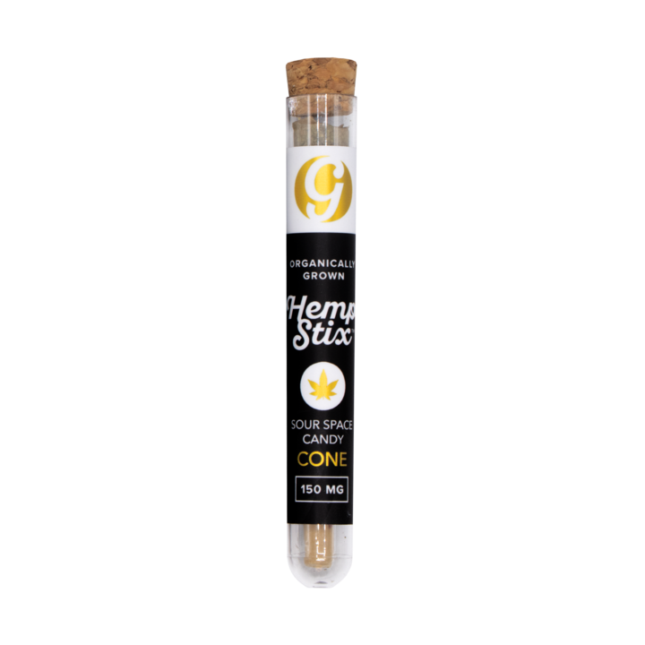 Organic Hemp Stix Cone Sour Space Candy 150mg