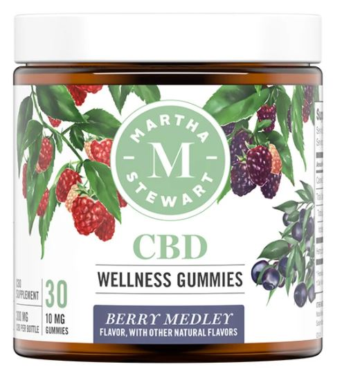 MARTHA STEWART CBD WELLNESS BERRY MEDLEY GUMMIES 300mg