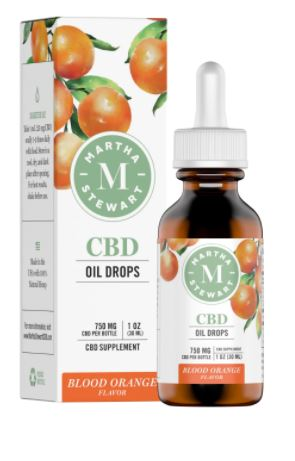 Load image into Gallery viewer, MARTHA STEWART CBD BLOOD ORANGE OIL DROPS 750MG