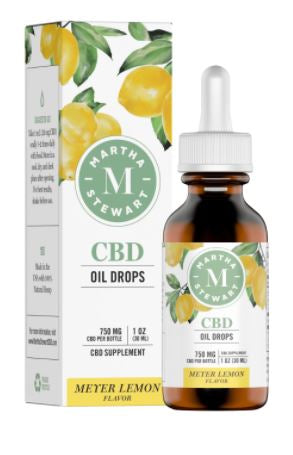 MARTHA STEWART CBD MEYER LEMON OIL DROPS 750MG