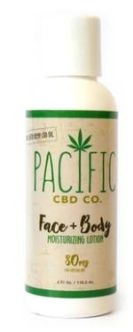 Load image into Gallery viewer, Pacific CBD Co FACE & BODY LOTION 80mg