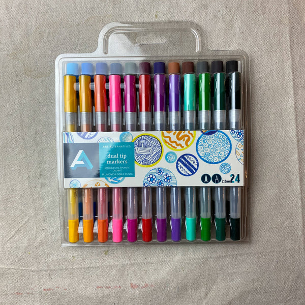 Dual Tip Markers Set of 24