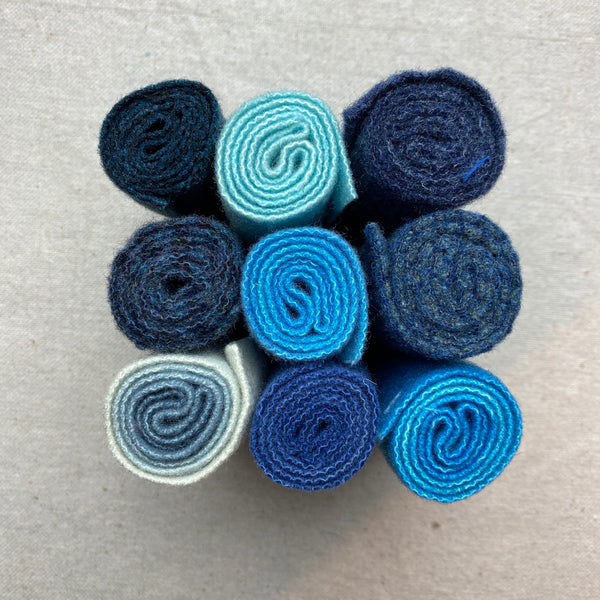 Felted Wool - Blue Set