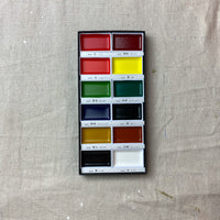 Set of 12 Japanese Watercolors