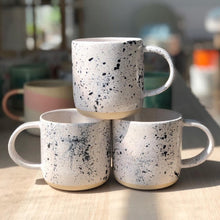 Load image into Gallery viewer, Black & White Paint Splatter Mug