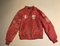 BLOOD FOR MERCY RED/PINK BOMBER (EXTRA SMALL) COOLEST COLOR EVER MADE