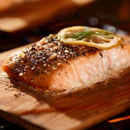 Friday, May 22nd - Cedar Plank Grilled Salmon with Accompaniments