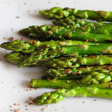 Oven Roasted Asparagus with Truffle Butter