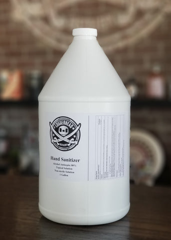 Hand Wash, Liquid 80% ABV, 1 Gallon