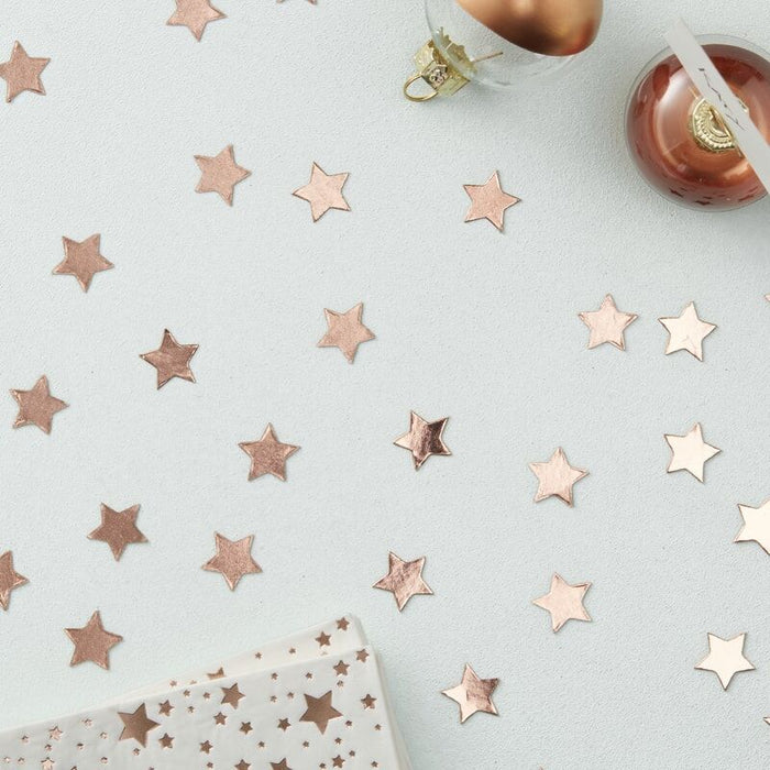 Ginger Ray Rose Gold Star Shaped Confetti - Metallic Star