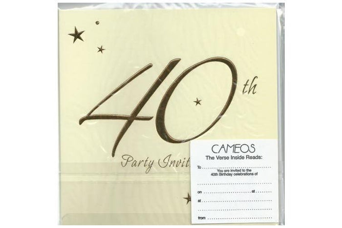 40th Birthday Invitations (6ct)