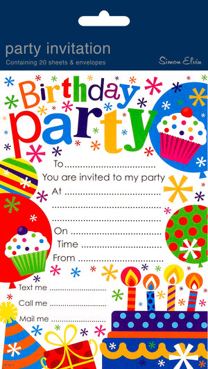 Party Invitations (20ct)