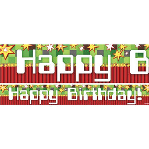 TNT Birthday Paper Banners 1 design 1m