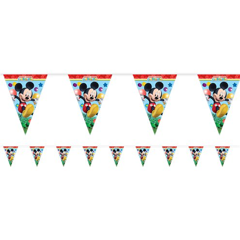 9 FLAGS PLAYFUL MICKEY DIE-CUT BANNER
