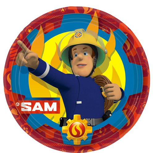 Fireman Sam - 23cm Paper Party Plates (8ct)