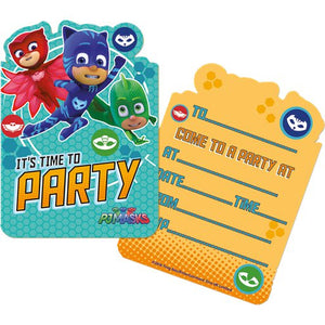 PJ Masks Party Invites - Party Invitation Cards