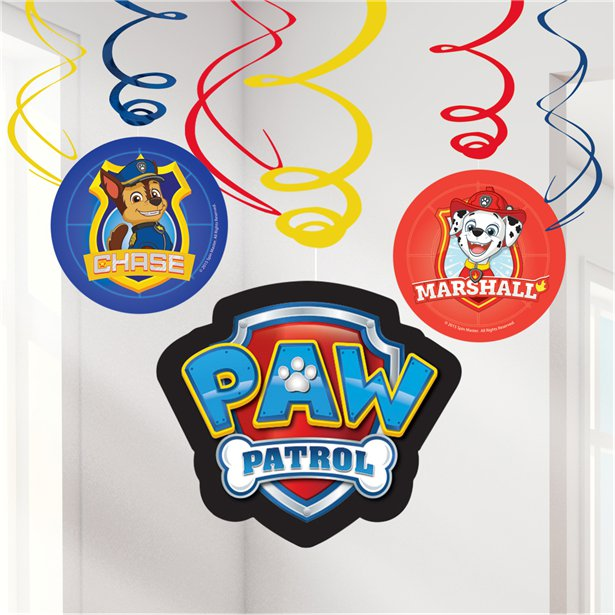 Paw Patrol Swirl Decorations - 60cm