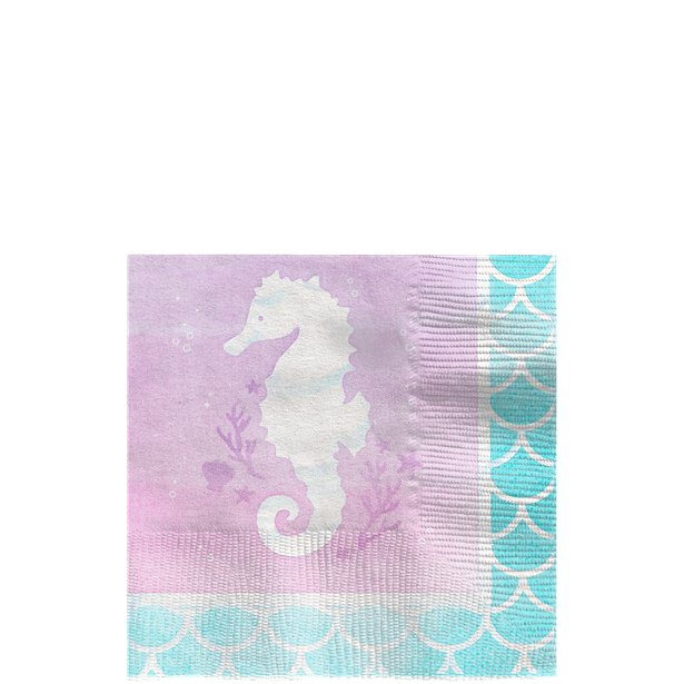 Mermaid Shine Beverage Napkins (16pk)
