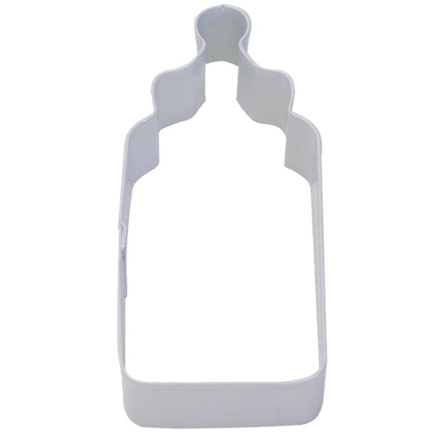 Baby's Bottle Poly-Resin Coated Cookie Cutter White