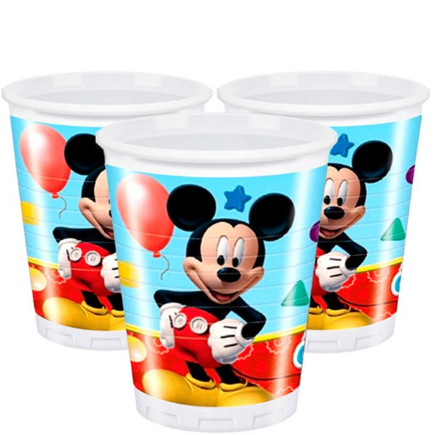 (8) 200ML PLAYFUL MICKEY PLASTIC CUPS
