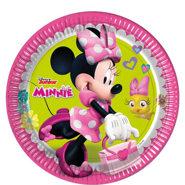 Minnie Mouse Plates - 23cm Paper Party Plates