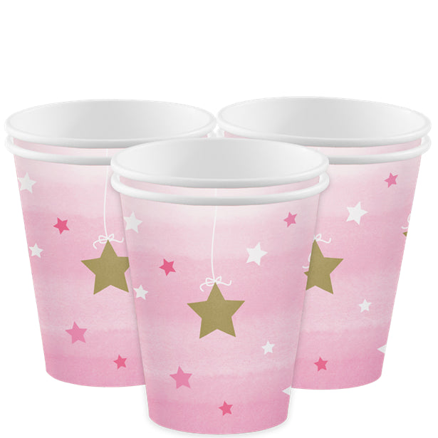 One Little Star Girl Paper Cups (8pk)