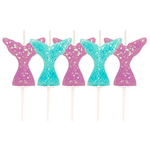 Glitter Mermaid Tail Pick Candles