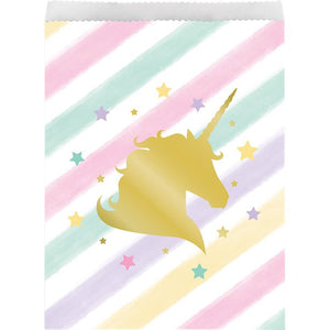 Unicorn Sparkle Large Paper Treat Bags (10pk)