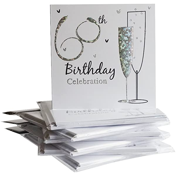 60th Birthday Invitations (6ct)